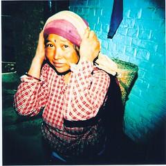 nepali woman building a pashmini factory (lukecd) Tags: nepal holga luke fisheye katmandu pokhara lumpini wwwlukeorg