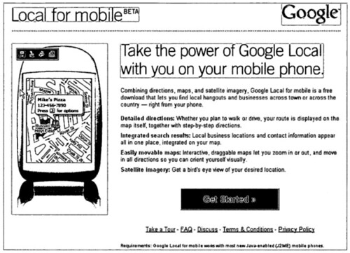 Google Local for Mobile