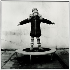 ~~~~~~ Paula (Thomas Solecki) Tags: portrait bw girl childhood darkroom print child kodak trampoline peopleschoice