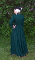 English fitted gown from the back