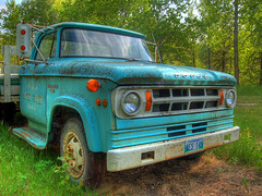 Dodge (Dogbite) Tags: truck antique farm teal grill manitoba honey transportation vehicle dodge motor peters hdr