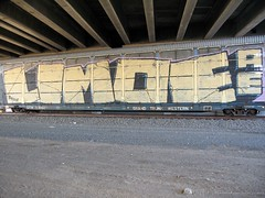 Limoe AE whole car 1 04-07 (Seetwist) Tags: railroad art train bench graffiti colorado paint grafitti tag trains denver spraypaint boxcar graffito graff piece aerosol railfan freight trainspotting ae traingraffiti freights trainart autorack wholecar fr8 rxr railart limoe benching trainspot boxcarart denvertrainart seetwist seetwistproductions