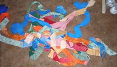 strips sewn end to end