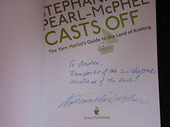 Stephanie Pearl-McPhee Casts Off Autograph