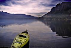 Night At The Lake (Eyal Anschel) Tags: trip sunset lake water argentina sport america kayak view dusk south extreme laguna bariloche thebigone mywinners