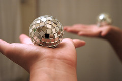 I hold disco in the palm of my hand. (bookgrl) Tags: selfportrait reflection me self ball disco shiny hand bokeh sparkly bokehwhores bokehwhoreschallengeshiny