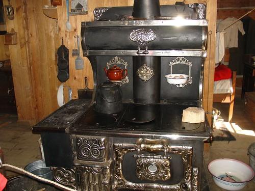 Fort Edmonton:  Antique stove