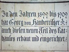 Inschrift im Neuen Rathaus München (Bundscherer) Tags: münchen s date fraktur schrift blackletter inscription 1909 1899 typografie inschrift fassadenbeschriftung
