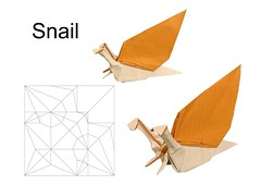 Snail test fold (Mdanger217) Tags: max danger origami snail cp christmas book