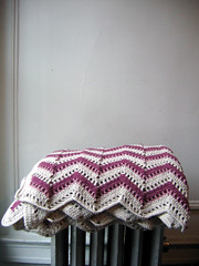 Seashore blanket on radiator