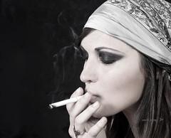sweet emotion (Zenith Phuong) Tags: woman girl lady french cigarette smoke sophie smoking vietnam hanoi zenithphuong