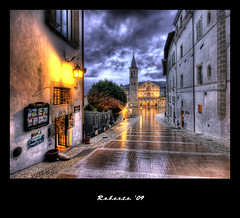 Spoleto, Italy (R.o.b.e.r.t.o.) Tags: sunset reflection church rain lights bravo italia tramonto cathedral chiesa duomo roberto spoleto pioggia hdr umbria italians cattedrale piazzadelduomo outstandingshots flickrsbest mywinners colorphotoaward holidaysvacanzeurlaub bratanesque xxxbravissimoooo