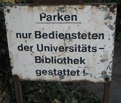 Schild der Universitäts- und Landesbibliothek Bonn