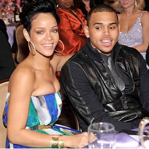 Chris Brown with Rihanna
