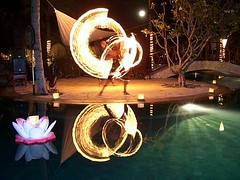 Bali Fire Dancers (Travelure) Tags: show travel bali motion reflection night movement asia stage illumination dancer communication flowing mapprinclude insight firedancer ajay sood insights thebiggestgroup ajaysood travelure diamondclassphotographer flickrdiamond communicationinsights communicationinsight