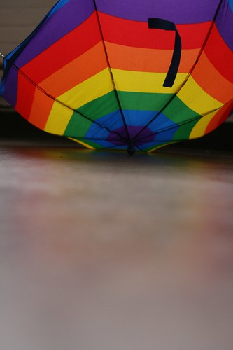 the little man's rainbow umbrella