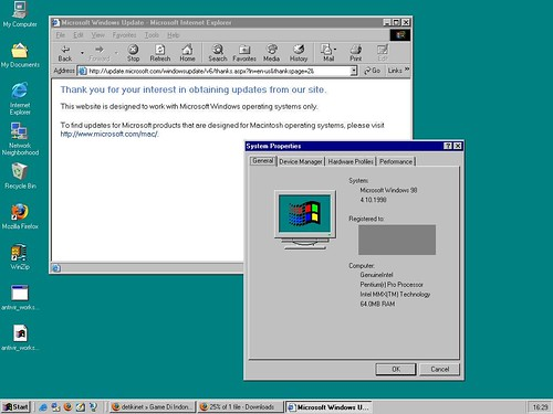 Windows 98 desktop screenshot