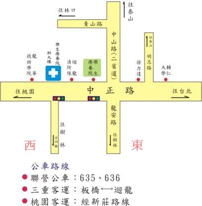 樂生院交通簡圖