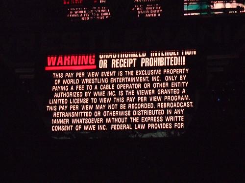 Wrestlemania 23 copyright