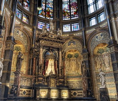 The Altar (Stuck in Customs) Tags: holland church netherlands amsterdam architecture religious photography lights nikon candles photographer cross god spirit mosaic religion jesus columns d2x drawings chapel stainedglass altar holy angels monks soul crucifix sculptures eglise hdr pap highquality stuckincustoms treyratcliff googlescreensaver focuspocus2 curtissimmons