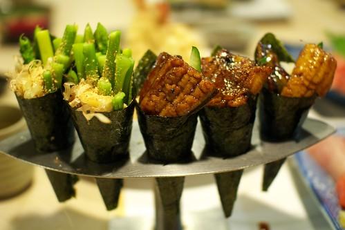 蘆筍和鰻魚手卷