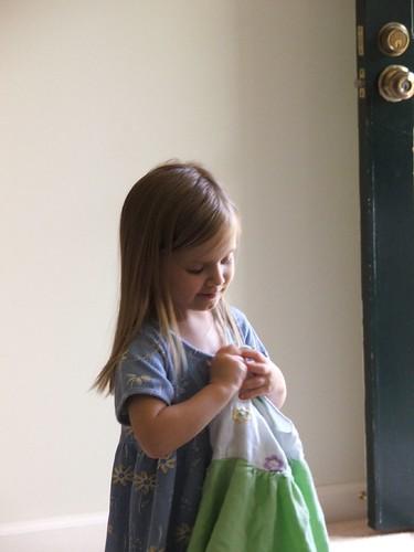 Emma - folding laundry