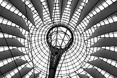 The eye (A@lbi) Tags: bw berlin canon germany ceiling potsdamerplatz sonycenter eos350d albi sigma18200mm