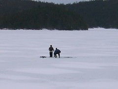 On Frozen Pond (lawner89) Tags: newfoundland saltpond icefishing burinpeninsula