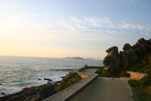 Sendeiro con Illas Cíes