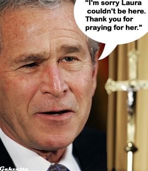Bush Prays With Catholics