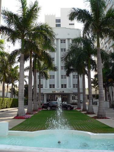 An art deco hotel in Miami Beach.  Photo by Stig Nygaard.  Click to visit the original at Flickr.