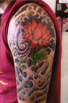 Starasian Tattoo Art Thibault Flower in The Tsunami