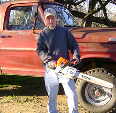 chainsaw_edit (the_robbers) Tags: ford truck manly chainsaw brett stihl