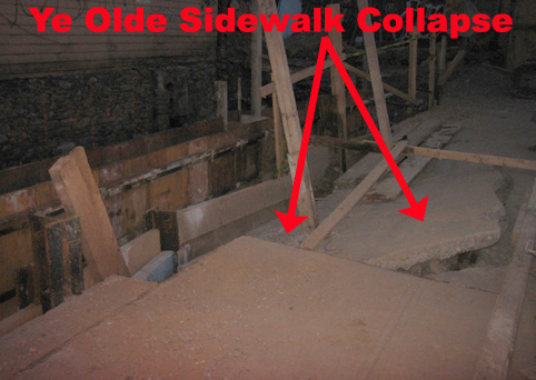 Sidewalk Collapse