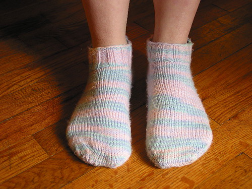 first pair of knit socks