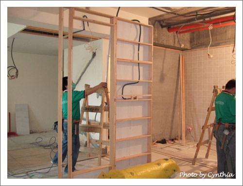 小工作室的隔間牆