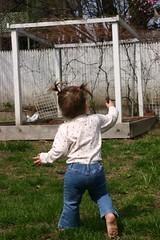 (moominmolly) Tags: yard running barefoot natalie pigtails