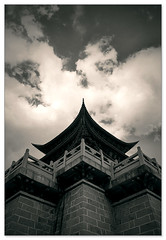 reach (staffh) Tags: china city sky building architecture clouds temple pagoda glow shine wide chinese surreal holy yunnan dali diamondclassphotographer
