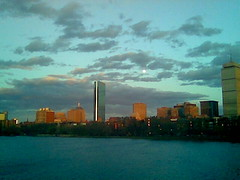Boston Sunset/Moonrise.