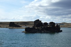 Like a fist from the deep, or something (aosher) Tags: outcrop lake iceland myvatn