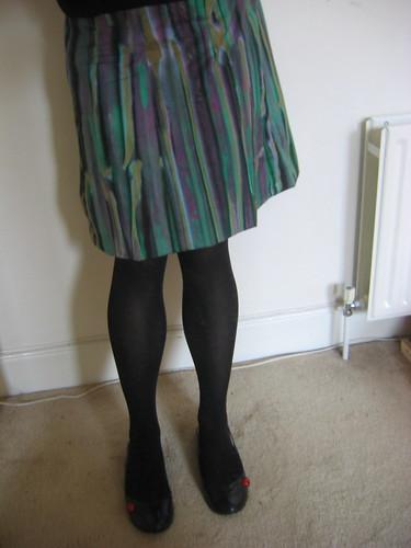 me wearing skirt