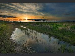 Oregon Wetlands at Dusk (B. Zyrogerg) Tags: sunset sky reflection colors oregon canon eugene 1022mm wetlan