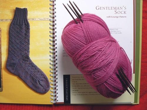 next stop - hot pink lozenge socks