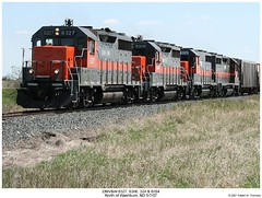 DMV&W 6327, 6306, 324 & 6354 (Robert W. Thomson) Tags: railroad train diesel railway trains northdakota locomotive trainengine washburn emd gp35 dmvw dakotamissourivalleywestern gp35r