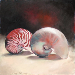 Two Shells (HagitSha) Tags: light shadow shells art colors painting artist oilpainting    yourmasterpaintings