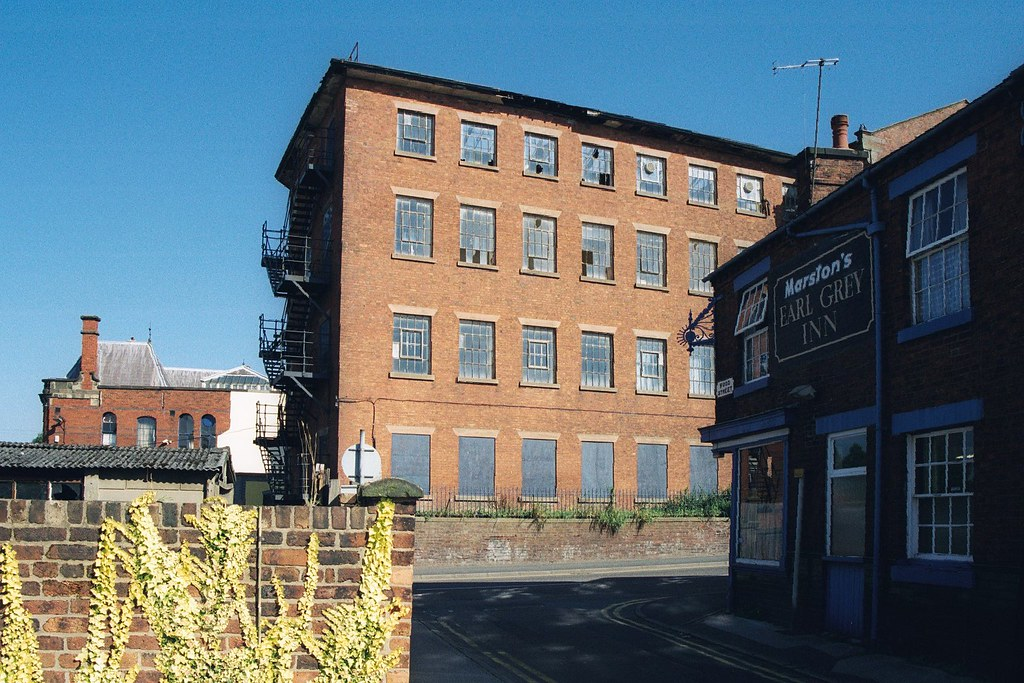 The Earl Grey Inn and London Silk Mill at Leek
