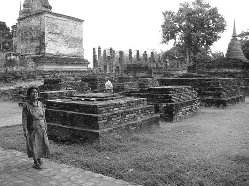 Elderly at the Sukhothai Historical Park