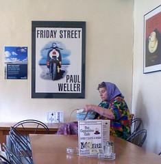 Friday Street (isuitblue) Tags: cafe elderlywoman paulweller