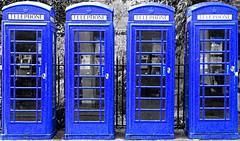 2x2 Dr Who? (robep) Tags: uk blue cambridge england photoshop four box telephone clones drwho