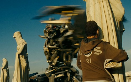 Transformers pelicula Megatron con Sam